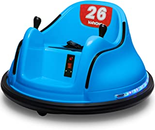 Kidzone DIY Race #00-99 6V Kids Toy Electric Ride On Bumper Car Vehicle Remote Control 360 Spin ASTM-Certified, Blue