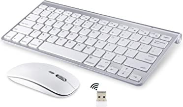 Wireless Keyboard and Mouse Compatible with iMac MacBook Windows Computer and Android Tablets