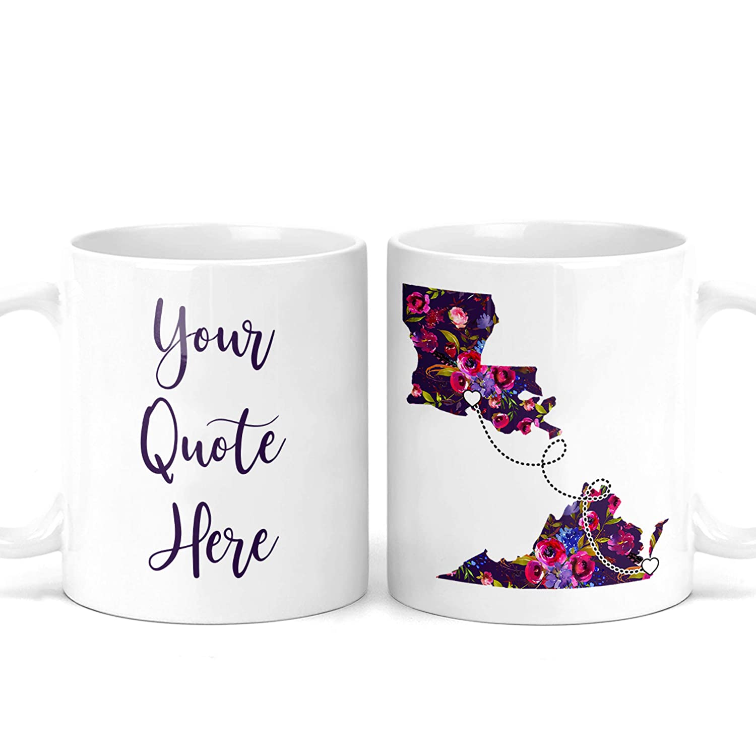 Custom Quote Long Distance Coffee OFFicial mail order Bestie States ! Super beauty product restock quality top! Moving - Mug