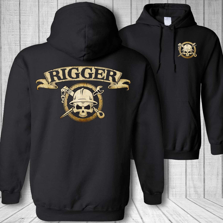 Rigger Skull Crossbones Crane Super special price Rigging Wrench Spud Hooded Badge S service