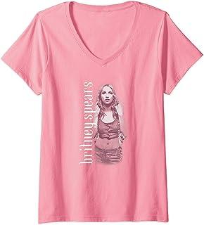 Femme Britney Spears - Oops!... T-Shirt avec Col en V