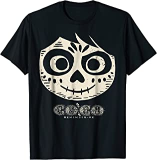 Disney Pixar Coco Miguel Skeleton Face Graphic T-Shirt