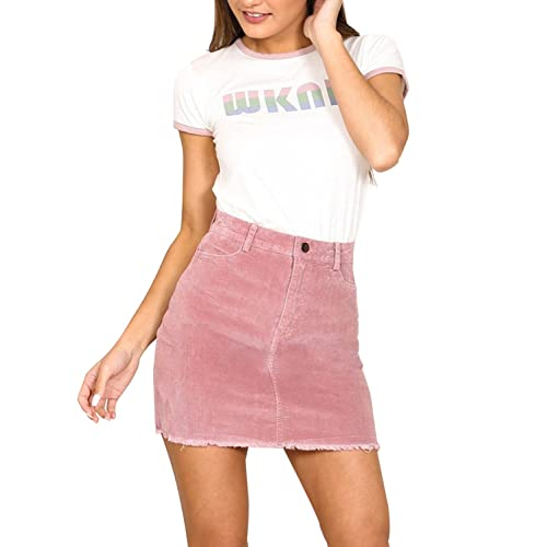 246e0013d4f6 Simplee Apparel Women's Vintage Retro Corduroy High Waisted Bodycon Mini  Skirt