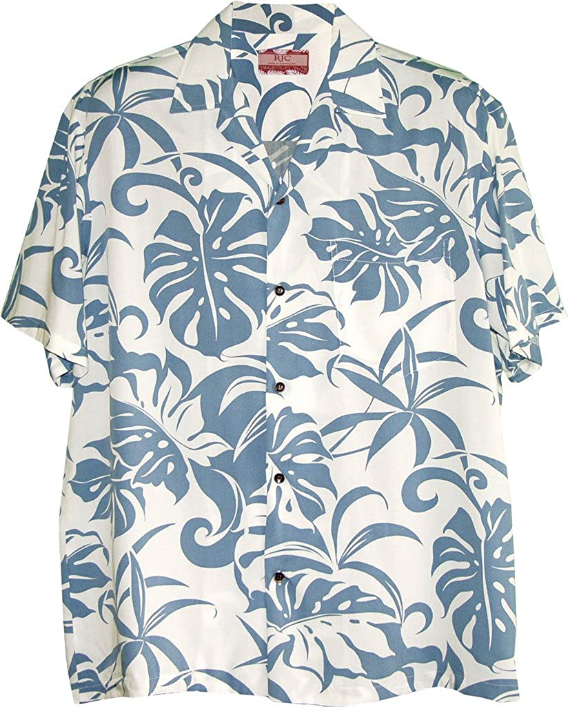 Robert J. Clancey RJC Men's Beachside Breeze Rayon Hawaiian Shirt