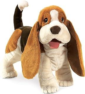 Folkmanis Basset Hound Hand Puppet , Brown, White, Black