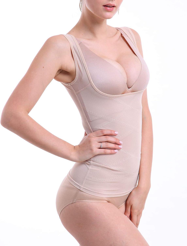 OMG_Shop Women Seamless Firm Control Shapewear Faja Open Bust Bodysuit Body Shaper