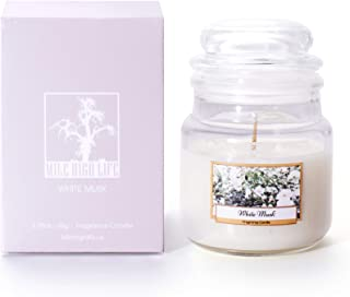 Natural Soy Jar Candle | Flower Tree Forest Fragrance Collection | Rich Scented | Hand Poured | Long Lasting Scent White Musk