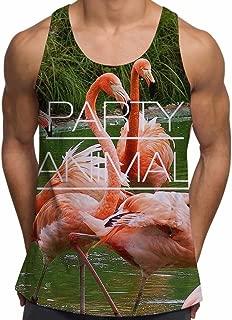 Animal Party Flamingo Bird Summer Ibiza Holiday Sunny Beach Gym Vest - XL