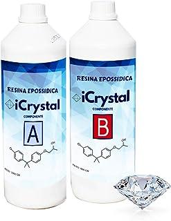 Resina epoxi ultra transparente iCrystal 1,6 kg efecto agua