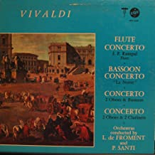Vivaldi: Flute Concerto in D- Il Gardellino, RV 428 / Bassoon Concerto in Bb- La Notte, RV 501 / Concerto in D Minor for 2 Oboes, RV 535 / Concerto in C for 2 Oboes 2 Clarinets, RV 559
