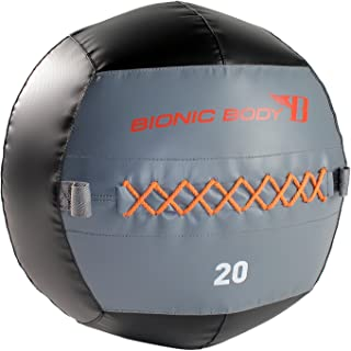 Bionic Body BBWB-1206 Balón Medicinal Wall Ball-2.7 kg, Adultos Unisex, Negro/Gris/Naranja/Rojo, Varios Pesos