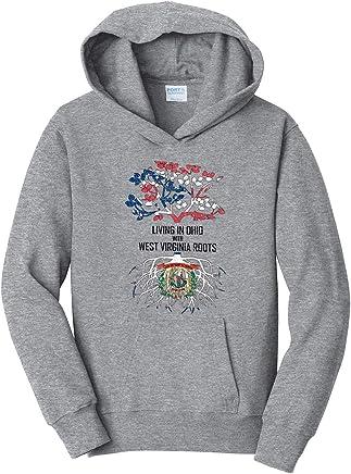 Tenacitee Girls Living in Florida with Alabama Roots Hooded Sweatshirt
