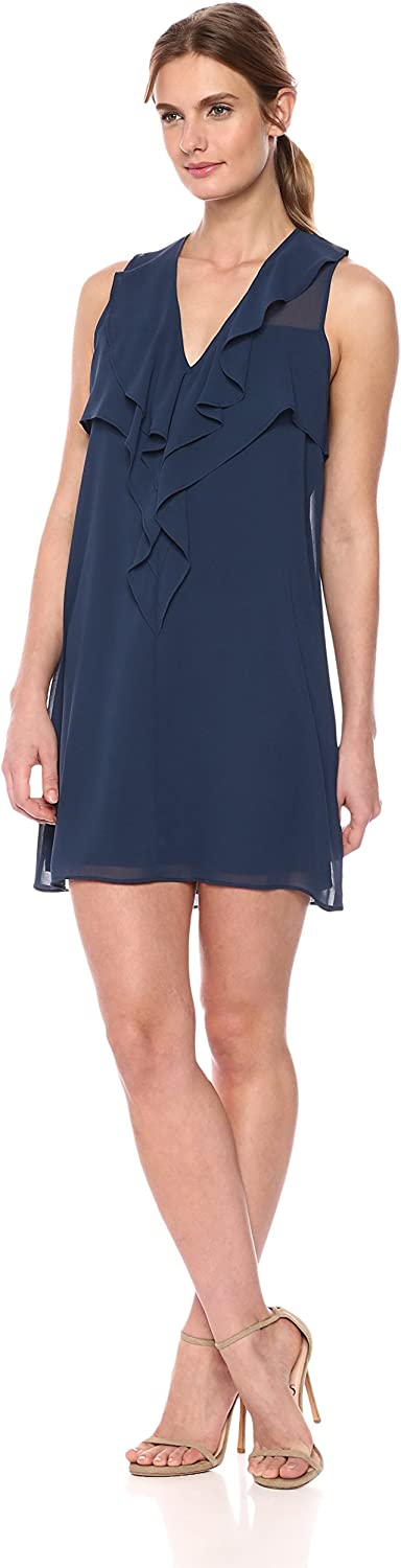 BCBGeneration Womens Standard Ruffle Front Aline Dress