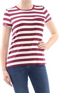 Womens Striped Short Sleeves T-Shirt