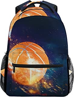 Baloncesto Moscas Mochila Casual Escuela Mochila bolsa de viaje Multicolor