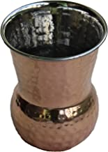 STREET CRAFT Hand Hammered Outside Copper Inside Stainless Steel Tumbler Tumbler Copper Muglai Matka Glass
