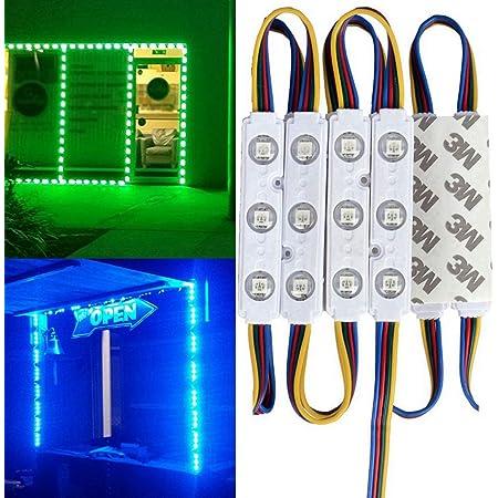 12V Power+Remote+50FT 5050SMD RGB 100pcs x 3LED Module Store Front Light  Lamp