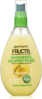 Garnier Fructis Duo-Effect Care Oil Repair Hair Treatment / Intensive Hair Oil for Spraying Without Rinsing (with Valuable...