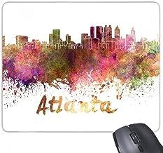 beatChong Goma Mousepad del Juego Alfombrilla de ratón Regalo Atlanta américa del país Ciudad Acuarela ilustración del rectángulo Antideslizante