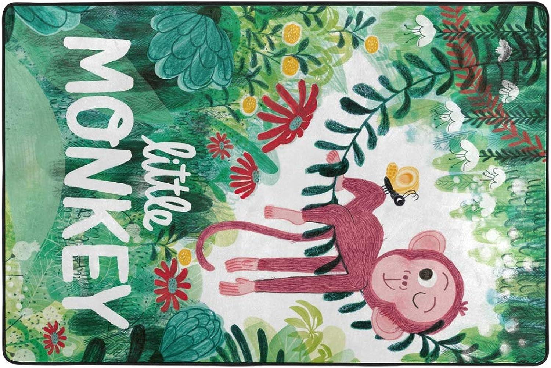 FAJRO Little Monkey mud shoes Scraper Area Rug Entry Way Doormat Multipattern Floor Mats Home Dec Anti-Slip Indoor Outdoor
