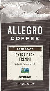 Allegro Coffee Extra Dark French Roast Ground Coffee, 12 oz