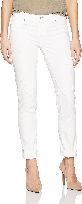 Mavi Jeans Womens Emma White Ripped Tribeca Jean Jeans