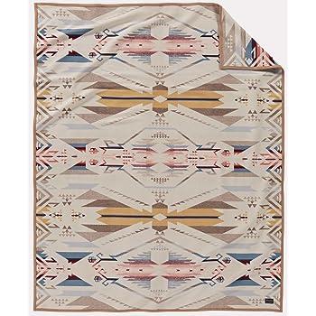 Oxford Pendleton Harding Jacquard Wool Bed Throw Blanket Queen Size Pendleton Woolen Mills 70056 6373 KING