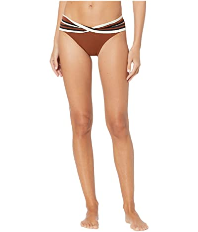 Robin Piccone Simone Twist Bottoms (Cocoa/Cream/Black) Women