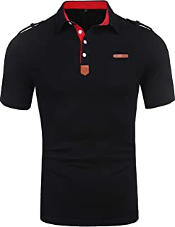 Men's Casual Classic Solid Short Sleeve Jersey Polo Shirt