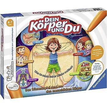 Ravensburger tiptoi Spiel 00560 Dein Körper und Du - Lernspiel von Ravensburger ab 4 Jahren für 1-4 Spieler, das Wissensspiel rund um den menschlichen Körper