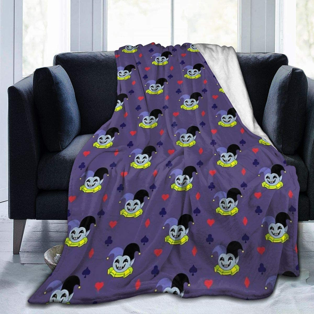WUKON JIANZH Super-Soft Deltarune - 店内全品対象 開店記念セール S Blanket Jevil Fleece Micro