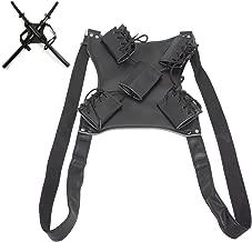 Sword Bag Sword Carry Case Back Strap Waistband for Ninja Hero Cosplay Anime Costume