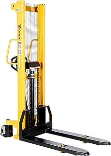 Vestil VHPS-2000-FF Manual Hydraulic Hand Pump Stacker, 2000 lbs Capacity, 60-1/4