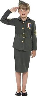 Smiffy's Girls Green WW2 Army Girl Fancy Dress Costume