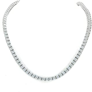 Bling Bling NY Unisex 3mm Real Solid 925 Sterling Silver Tennis Chain CZ One Row Choker Necklace 16-24