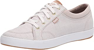 Keds Women's Center Ticking Stripe Sneaker, Tan,6.5 M US
