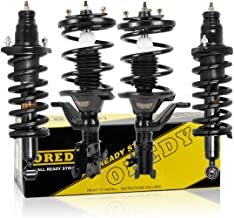 OREDY Front & Rear Full Set 4 Pieces Complete Struts Assembly Shock Coil Spring Assembly Kit 172186 172185 171340L 171340R Compatible with Honda Civic 2003 2004 2005