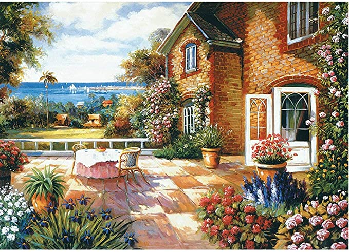 78 opinioni per GuDoQi Puzzle da 1000 Pezzi Adulti Puzzle Paesaggio Giardino Cottage Puzzle Arte
