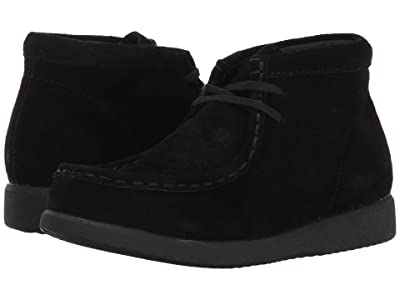 Hush Puppies Kids Bridgeport III (Little Kid/Big Kid) (Black Suede) Boy