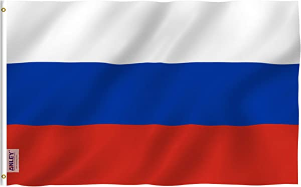 Anley Fly Breeze 3x5 Foot Russia Flag Vivid Color And UV Fade Resistant Canvas Header And Double Stitched Russian Federation National Flags Polyester With Brass Grommets 3 X 5 Foot