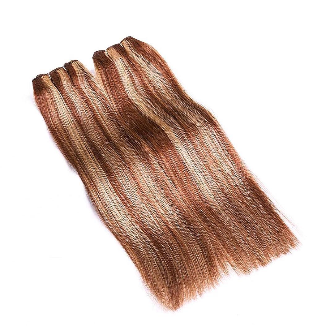 イチゴ熱額BOBIDYEE 女性用ヘアカーテンリアルヘアストレートヘア混色は結び目なしで染めることができますヘアカーテン複合ヘアレースウィッグロールプレイングかつら (サイズ : 24inch)