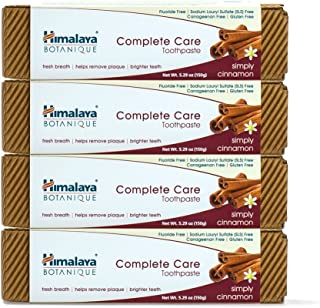 Himalaya Complete Care Toothpaste, Simply Cinnamon, Natural, Fluoride-Free, SLS Free, Carrageenan-Free & Gluten-Free, 5.29 oz (150 g), 4 Pack