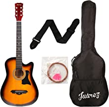 Juarez JRZ38C/3TS Acoustic Guitar, 38 Inch Cutaway with Bag (3TS Sunburst)