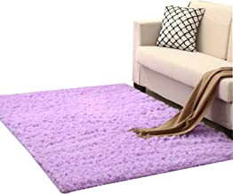 Modern and Simple Household Carpet 4.5Cm Thick Rectangular Coffee Table Pad Plush Bedside Carpet, Solid Color Suitable for...