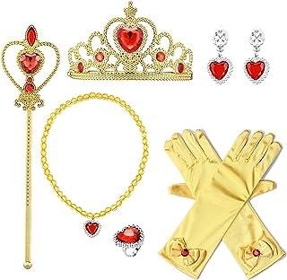 إكسسوارات حفلات الأميرة بروالو قفازات تاج قلادات عصا تقدم للأطفال الفتيات
