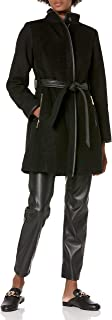 Vince Camuto Women's Mixed Fabric Wool Coat