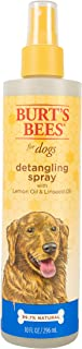 Burt's Bees for Pets Dogs Natural Detangling Spray With Lemon and Linseed | Dog and Puppy Fur Detangler, 10 Ounces (FF5777)