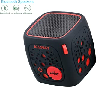 Mini Bluetooth Speakers,ALLWAY Portable Wireless Bluetooth Speakers with Loud Stereo Sound,TF Card Port,164 Feet Bluetooth 5.0 Range,Rich bass for Laptop,MacBook Pro,iPhone,MP4,Echo,Car,TV and More
