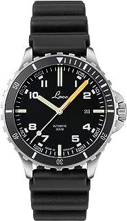 Laco - Himalaya 862106 - Reloj de pulsera deportivo para hombre, correa de caucho negra, cristal de zafiro, diámetro 42 mm, ETA 2824.2 (Elaboré) automático, incluye estuche
