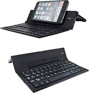 Folding Bluetooth Keyboard,Geyes Foldable Wireless Keyboard with Portable Pocket Size, Aluminum Alloy Housing, for iPad, iPhone,Android Devices, and Windows Tablets, Laptops and Smartphones